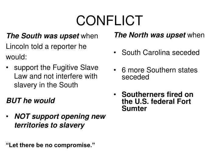 The South was upset