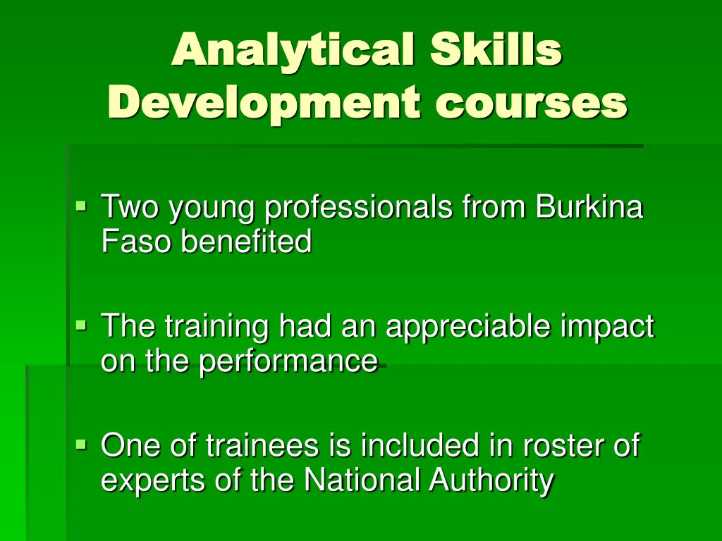 Analytical Skills Development courses