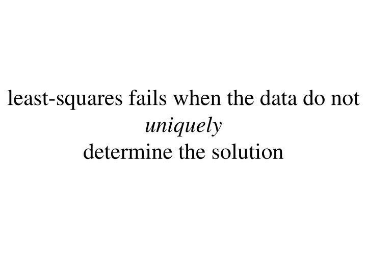least-squares fails when the data do not