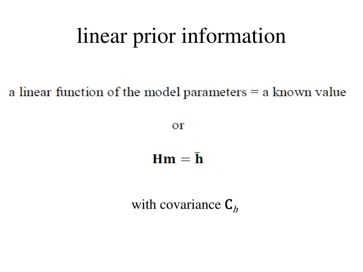 linear prior information