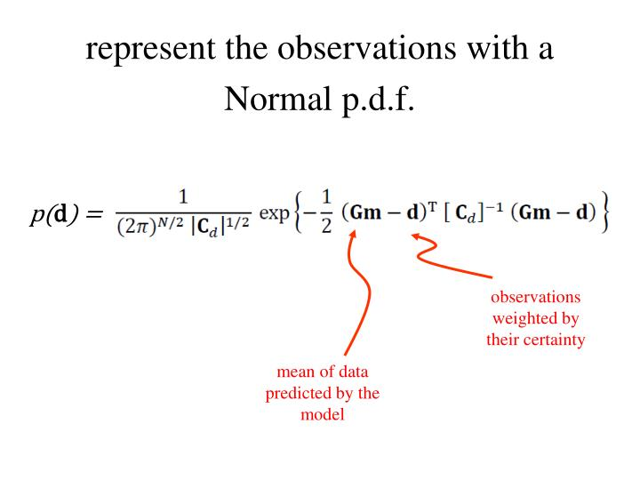 represent the observations with a