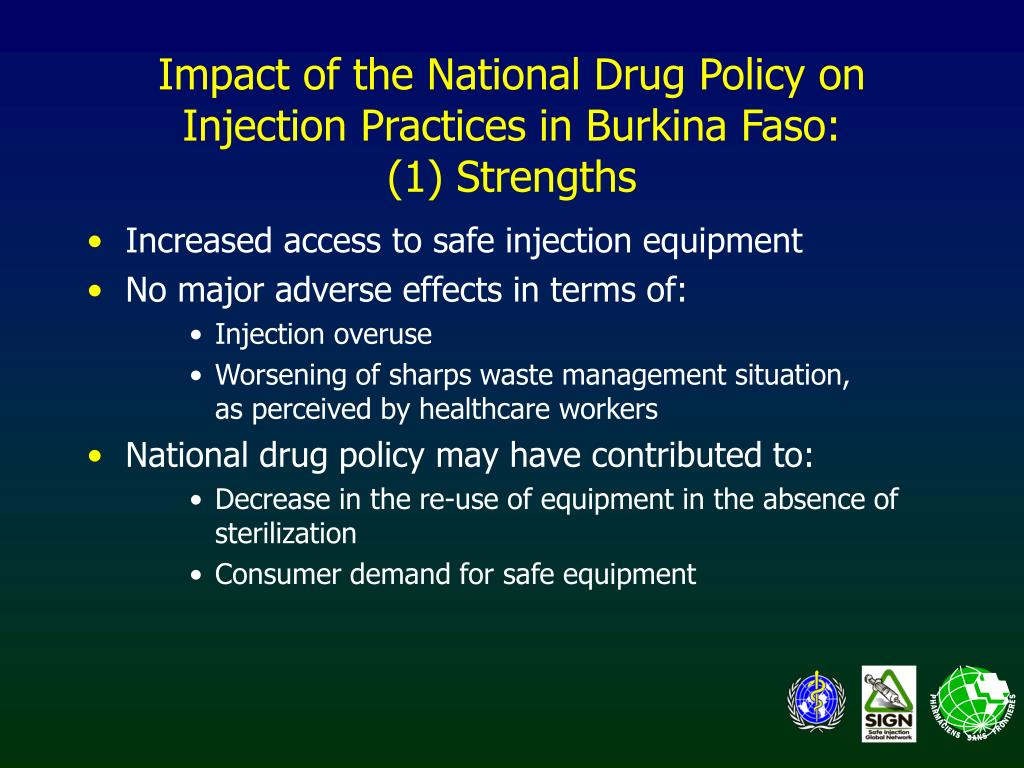 Increased access to safe injection equipment