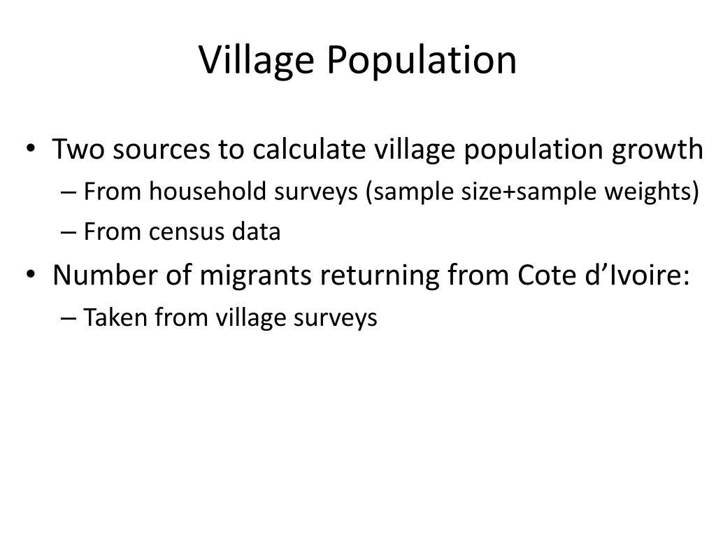 Village Population