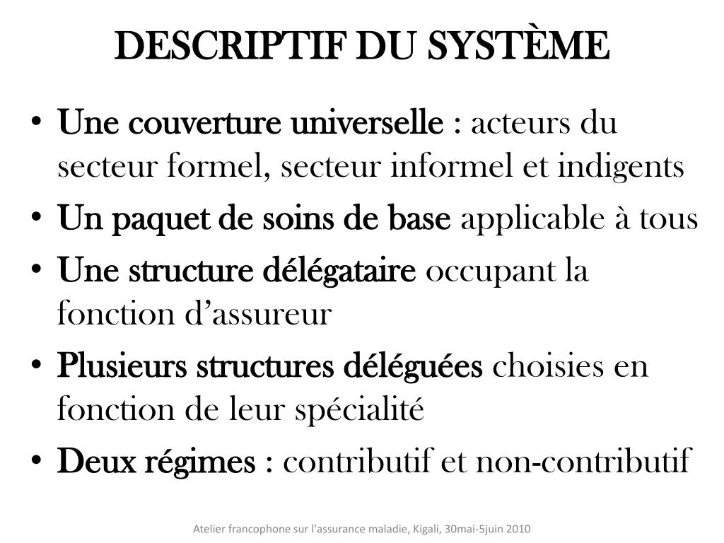 DESCRIPTIF DU SYSTÈME