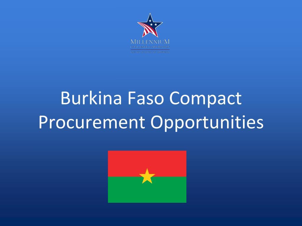 Burkina Faso Compact