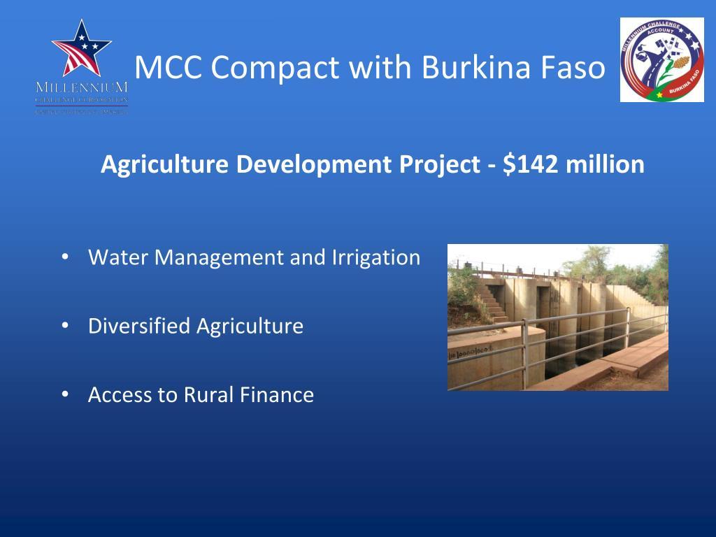 MCC Compact with Burkina Faso