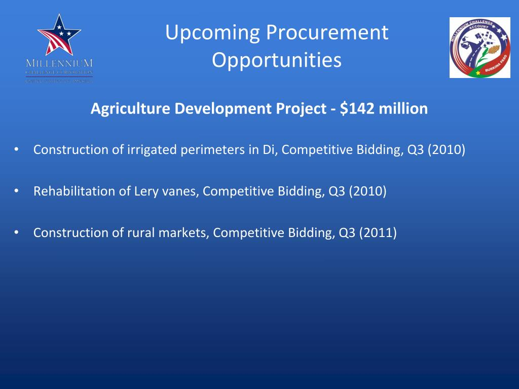 Upcoming Procurement