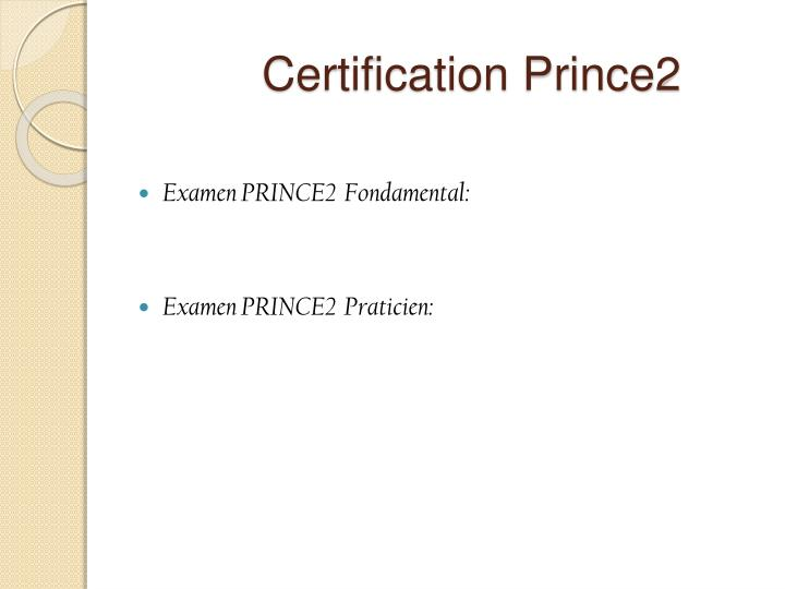Certification Prince2