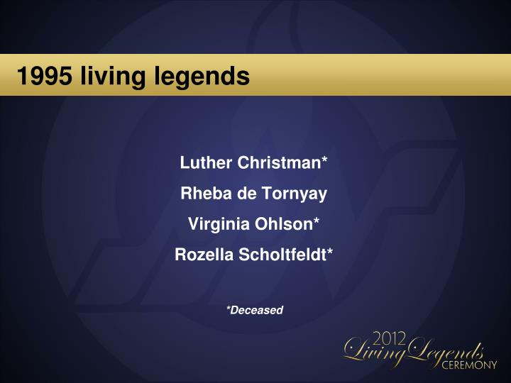 1995 living legends