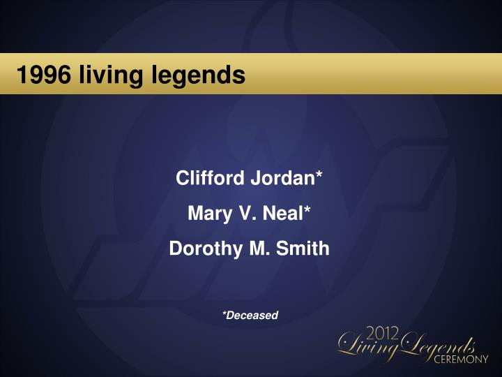 1996 living legends