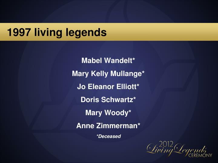 1997 living legends