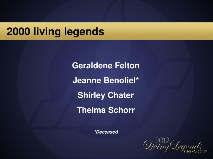 2000 living legends