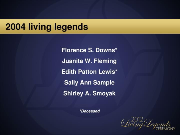 2004 living legends