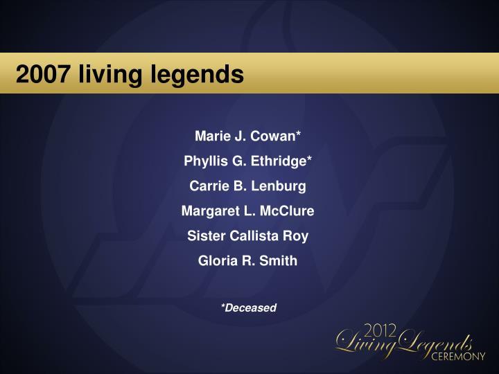 2007 living legends