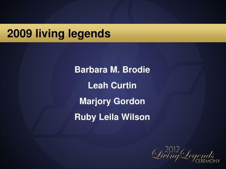 2009 living legends