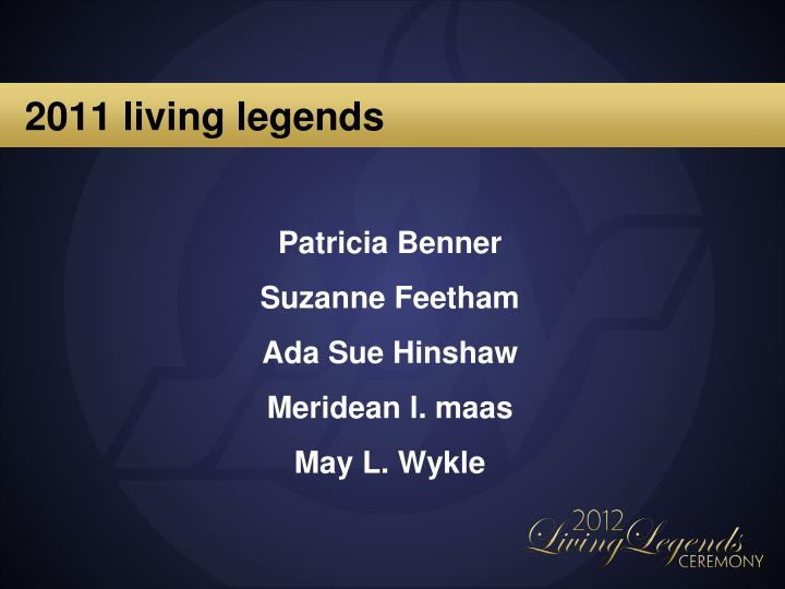 2011 living legends