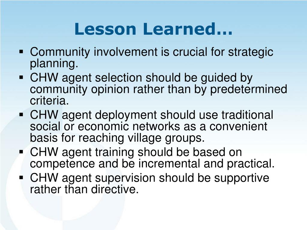 Community involvement is crucial for strategic planning.