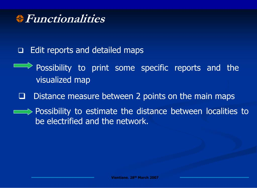 Distance measure between 2 points on the main maps