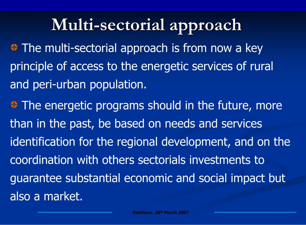 Multi-sectorial approach