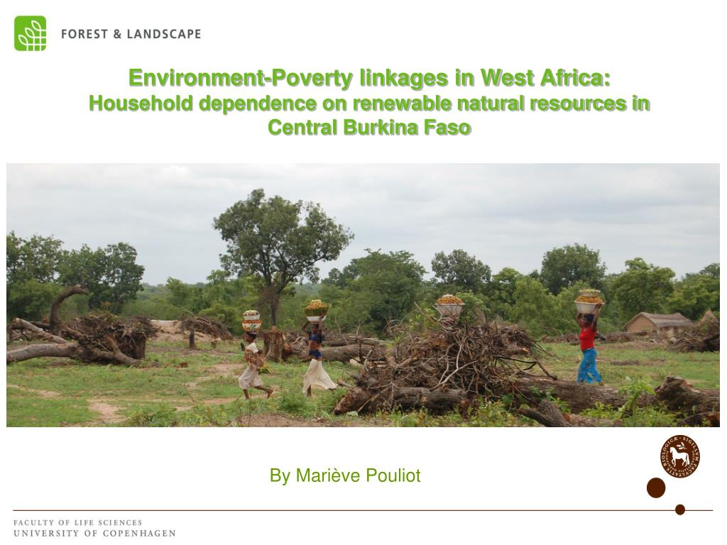 Environment-Poverty linkages in West Africa: