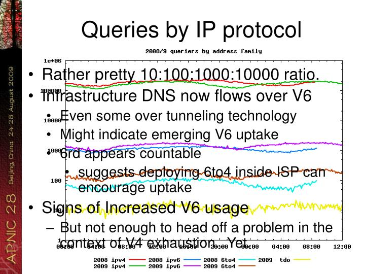 Queries by IP protocol