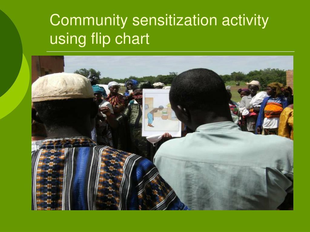 Community sensitization activity using flip chart