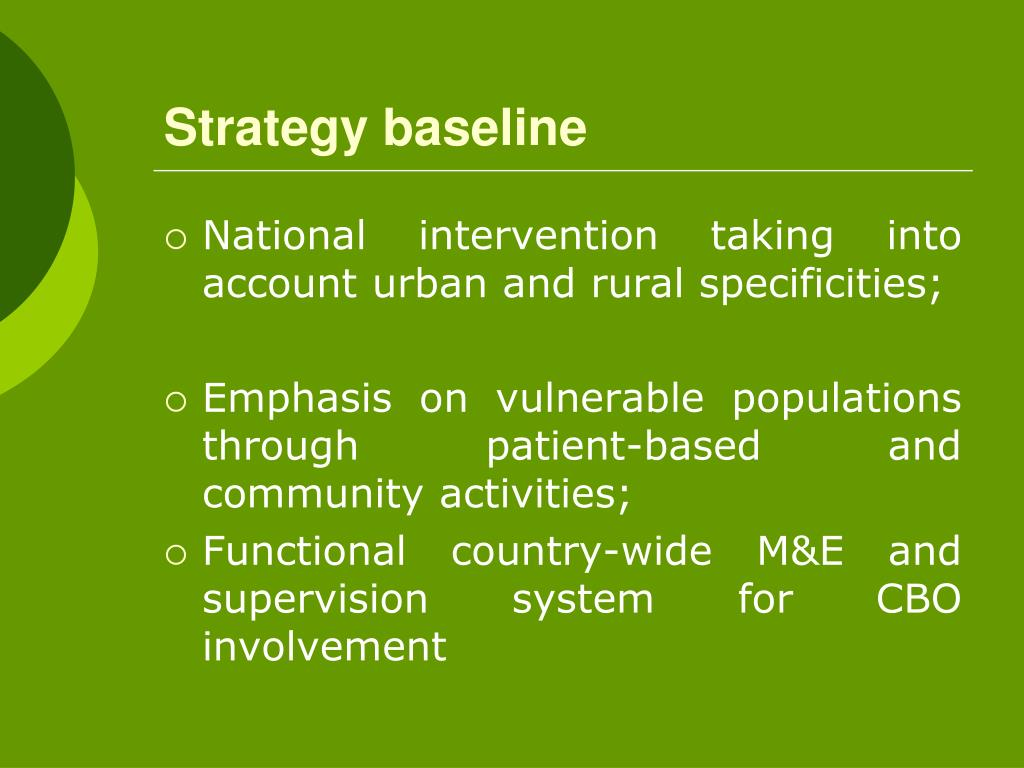 Strategy baseline