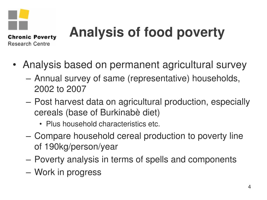 Analysis of food poverty