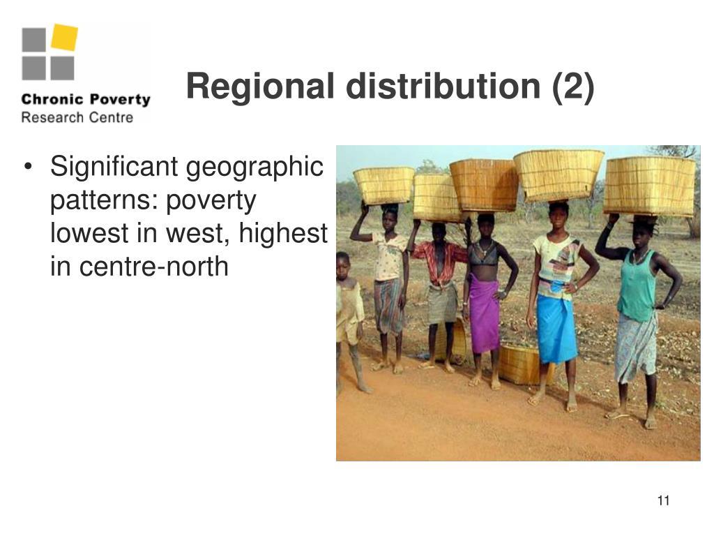 Regional distribution (2)