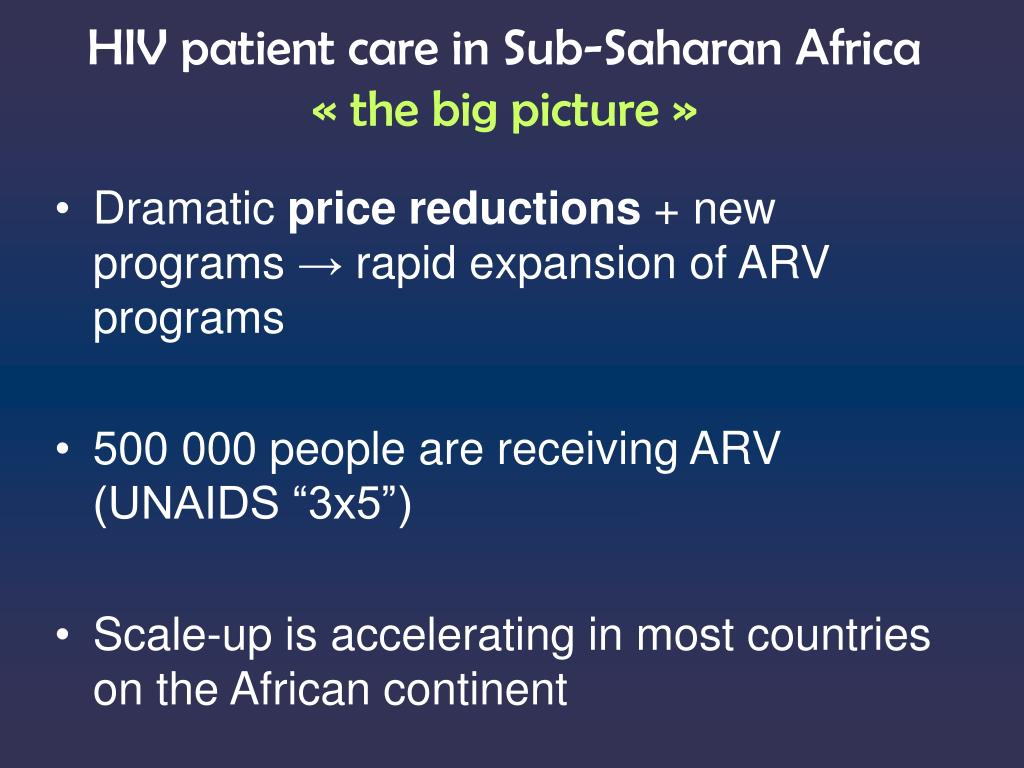 HIV patient care in Sub-Saharan Africa