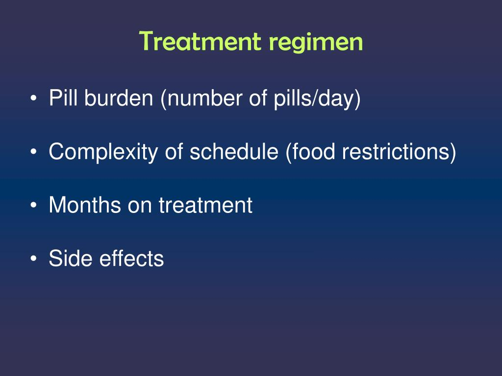 Treatment regimen