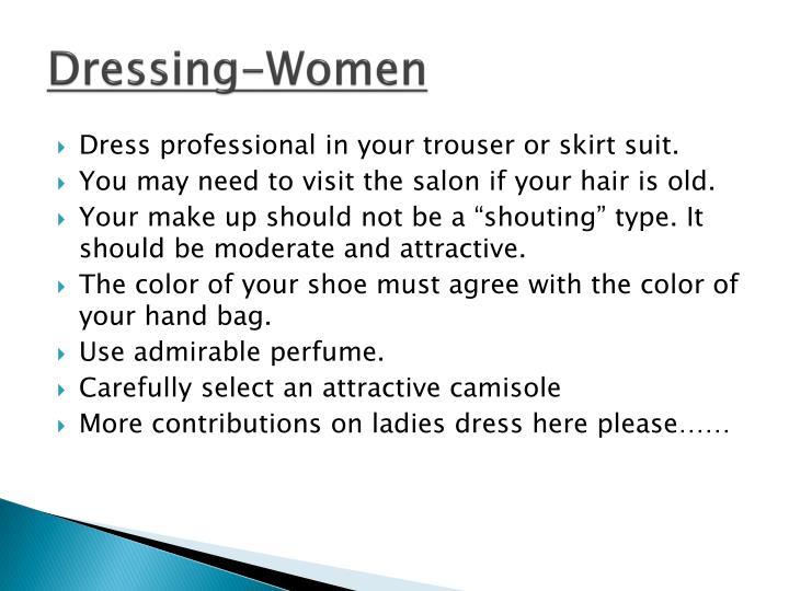 Dressing-Women