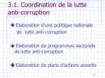 3 1 coordination de la lutte anti corruption