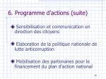 6 programme d actions suite
