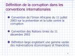 d finition de la corruption dans les conventions internationales