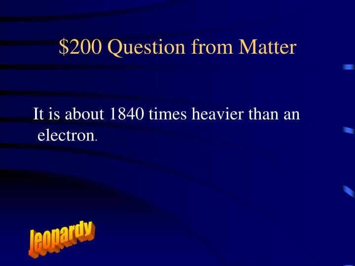 $200 Question from Matter