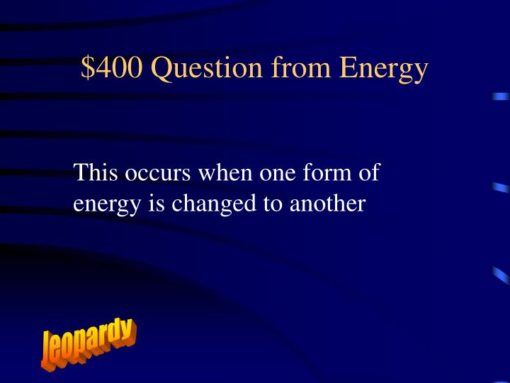 $400 Question from Energy