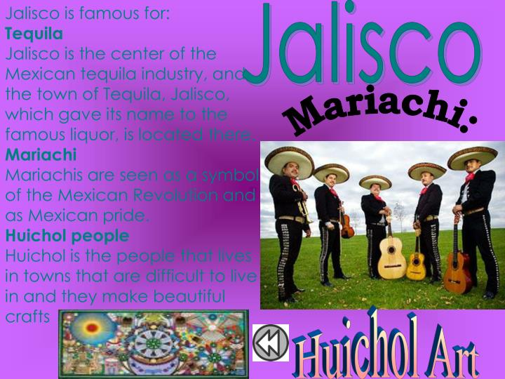Jalisco is famous for: