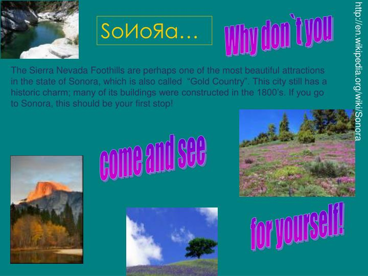 http://en.wikipedia.org/wiki/Sonora