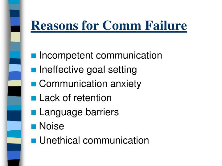 the consequence of communication failure Causes of marriage failure: money communication you need to talk about it sooner rather than later and then face the consequences so that you can both.