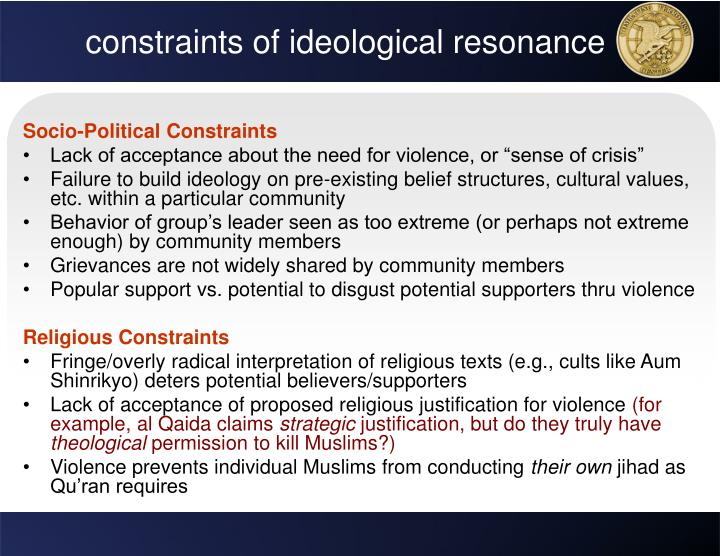 constraints of ideological resonance