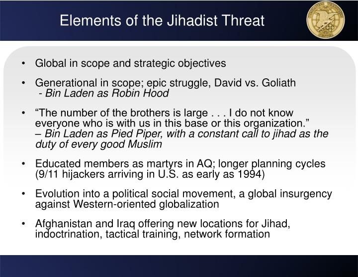 Elements of the Jihadist Threat