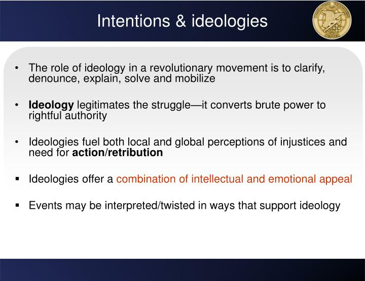 Intentions & ideologies