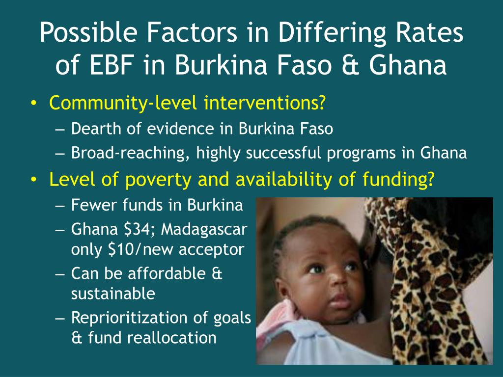 Possible Factors in Differing Rates of EBF in Burkina Faso & Ghana