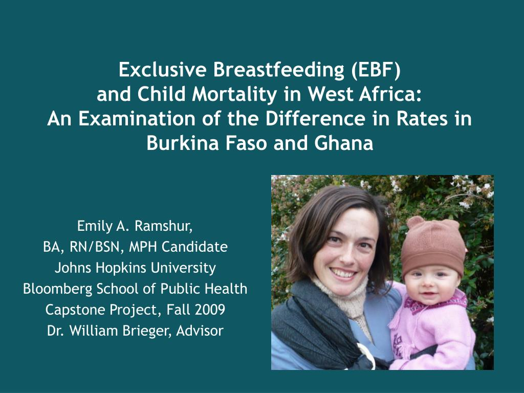 Exclusive Breastfeeding (EBF)                         and Child Mortality in West Africa: