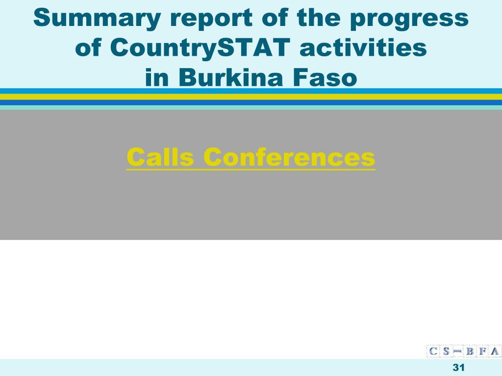 Calls Conferences
