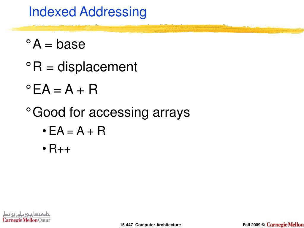 Indexed Addressing