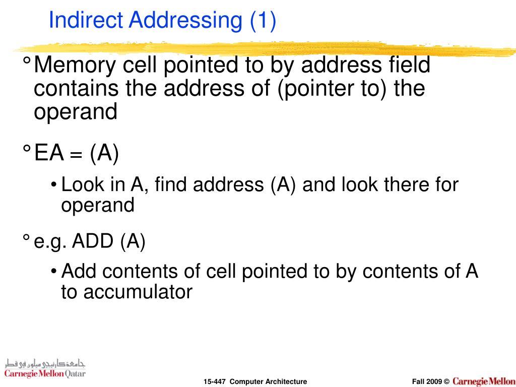 Indirect Addressing (1)