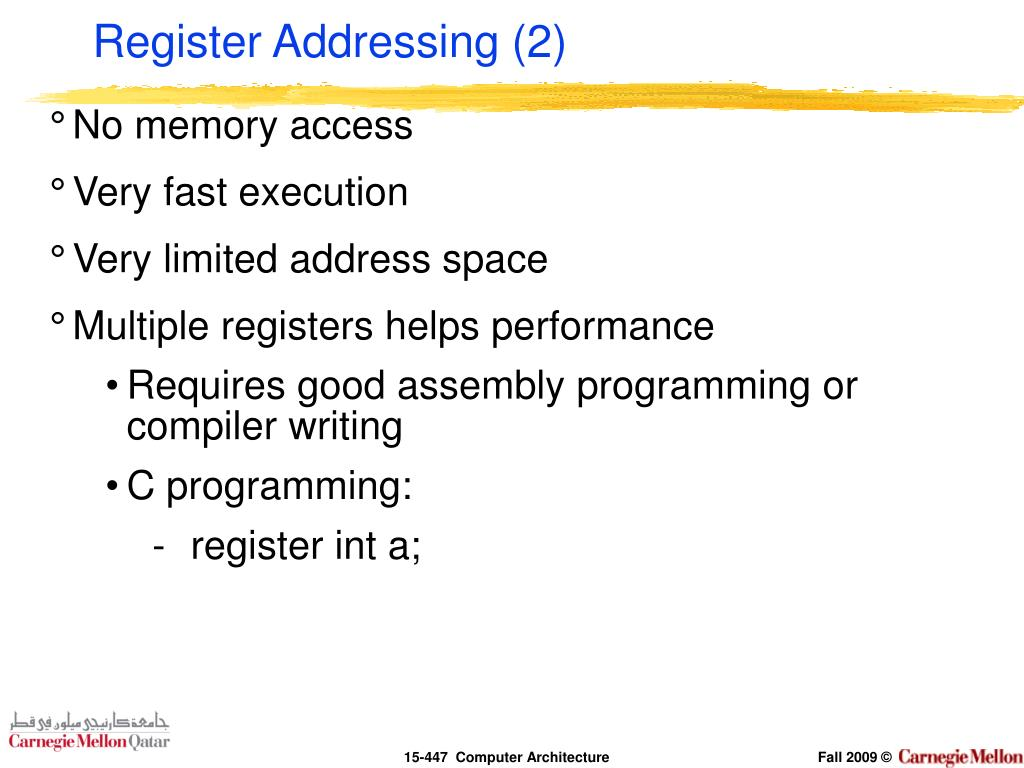 Register Addressing (2)