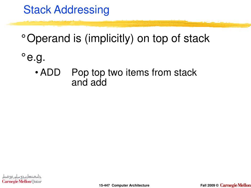 Stack Addressing